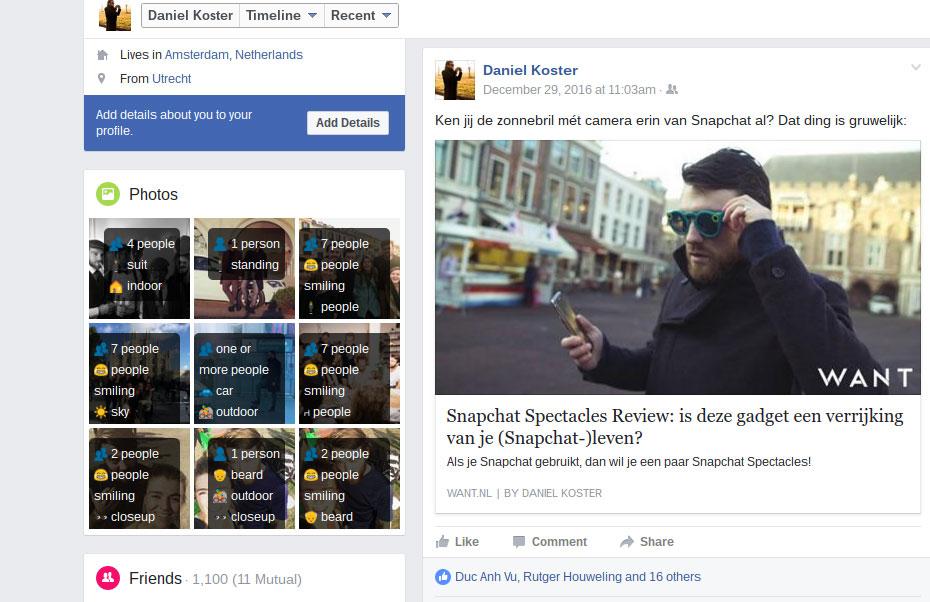 Facebook extensie