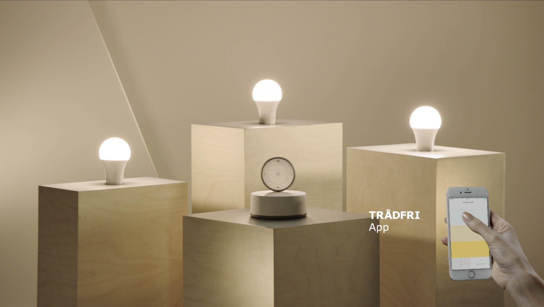 P tverd mme tr dfri de slimme verlichting van ikea komt for Philips slimme verlichting