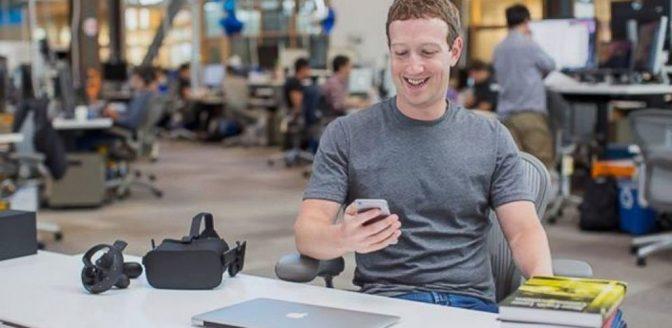 Facebook doven typen met gedachten