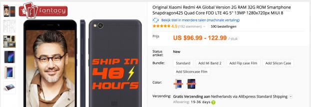 Smartphone kopen op AliExpress