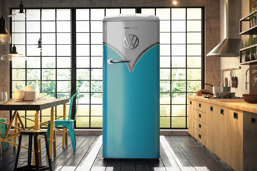 Parkeer deze retro volkswagen bulli koelkast in je keuken for Idee di casa mia