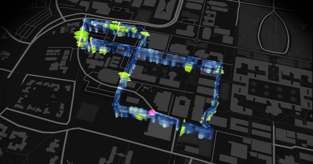 Visualisaite vibraties glasvezel netwerk