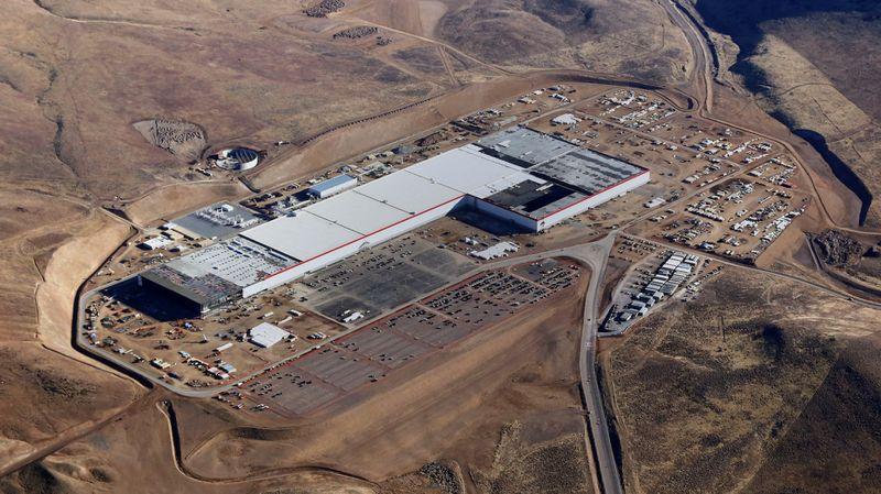 Tesla Gigafactory voor productie batterijcel Model 3