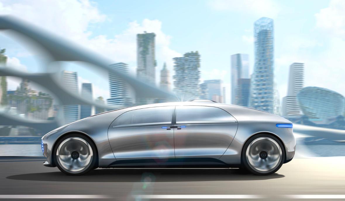Mercedes één van de toekomstige autonome auto's