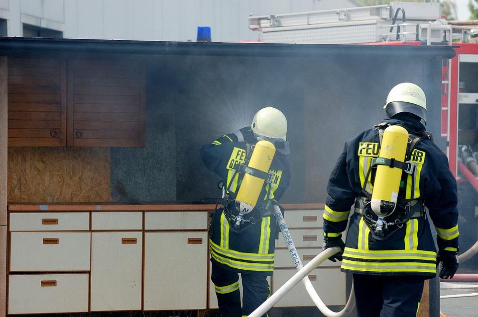 brand in de keuken