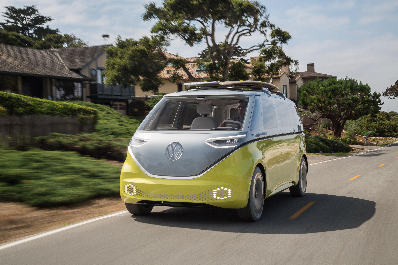 I D Buzz Volkswagen Brengt Microbus Uit Als Elektrische Auto