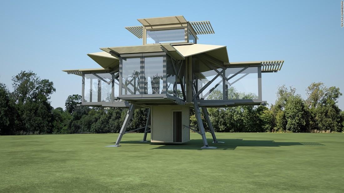 Ten Fold Engineering opvouwbaar huis