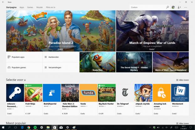 Screenshot Surface Laptop store