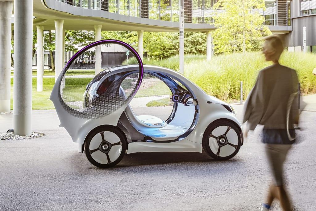 Smart vision EQ fortwo zelfrijdende auto