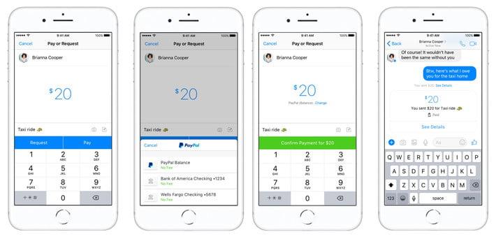 Messenger PayPal