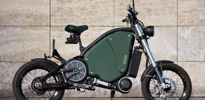 Gulas Pi1S elektrische motorfiets met pedalen