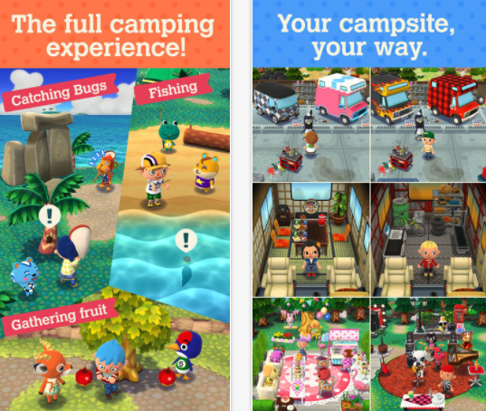 Image of: Kids Animal Crossing Pocket Camp Fishing Games Nintendos Mobiele Game Animal Crossing Vanaf 22 November Te Spelen