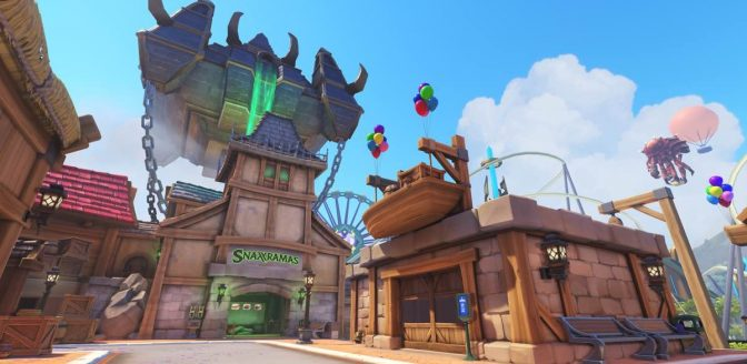 Overwatch Blizzard World map