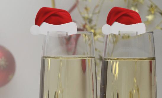 wijnglas kerst