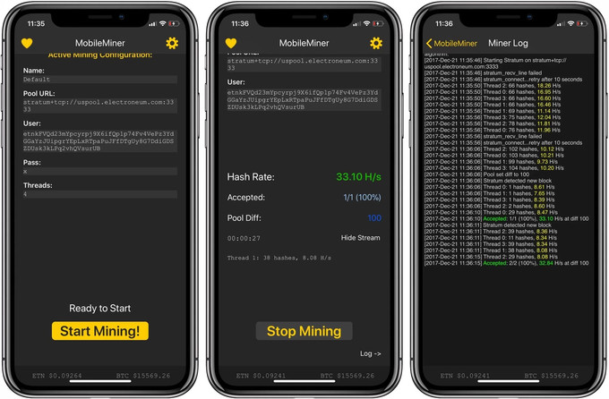 Mobileminer app