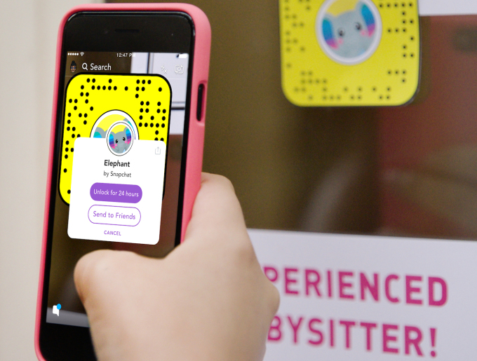 Snapchat lens filter