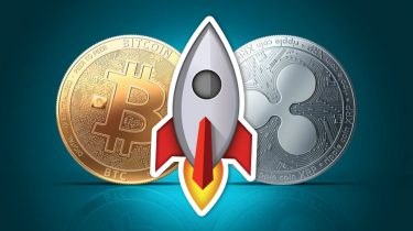 Ripple en Bitcoin munt