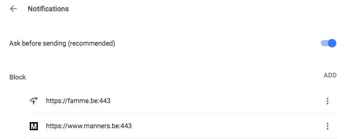 Chrome notificaties uitzetten