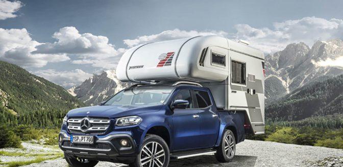Mercedes X-class pickup truck camper