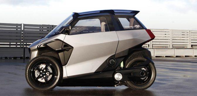 Peugeot hybride driewieler