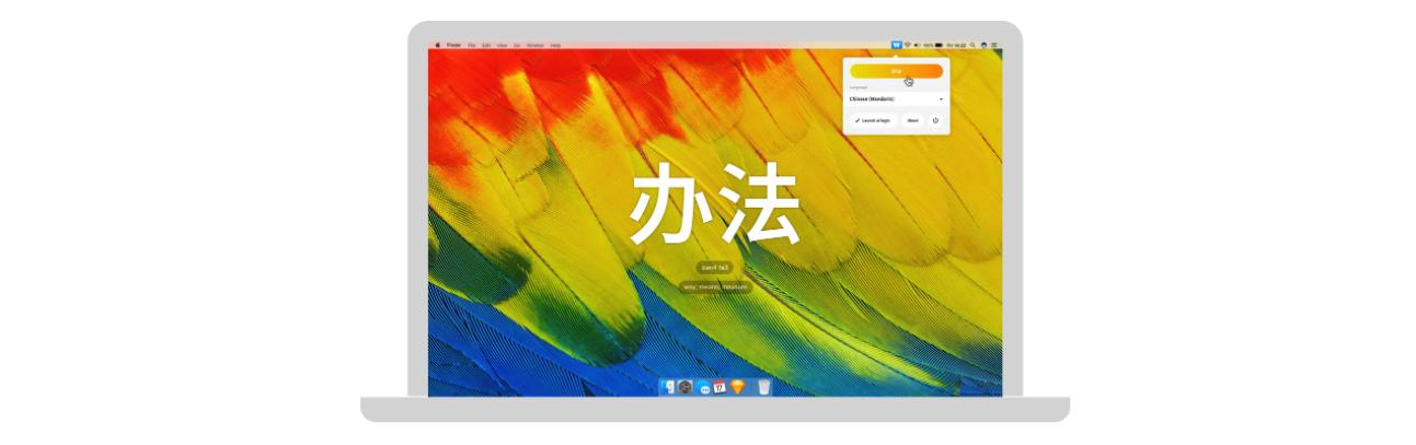 Backwords nieuwe taal leren Mac