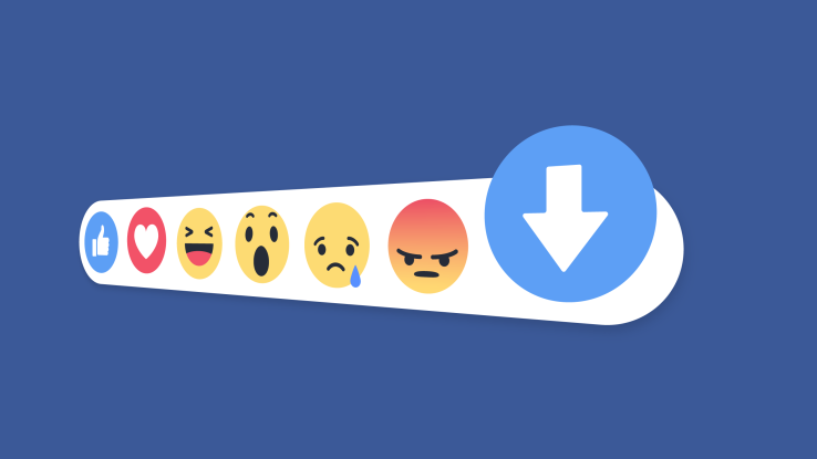 Facebook downvote knop