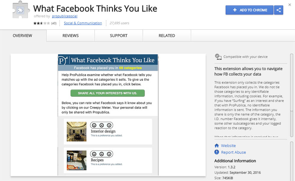 What Facebook Thinks You Like