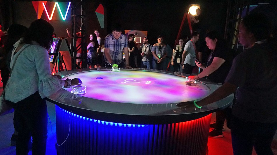 Air hockey augmented reality