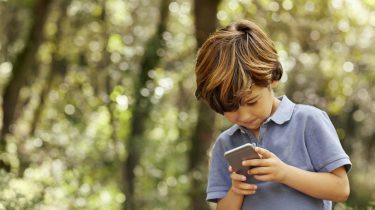iPhone moeder kleuter