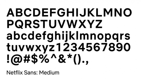 Netflix lettertype