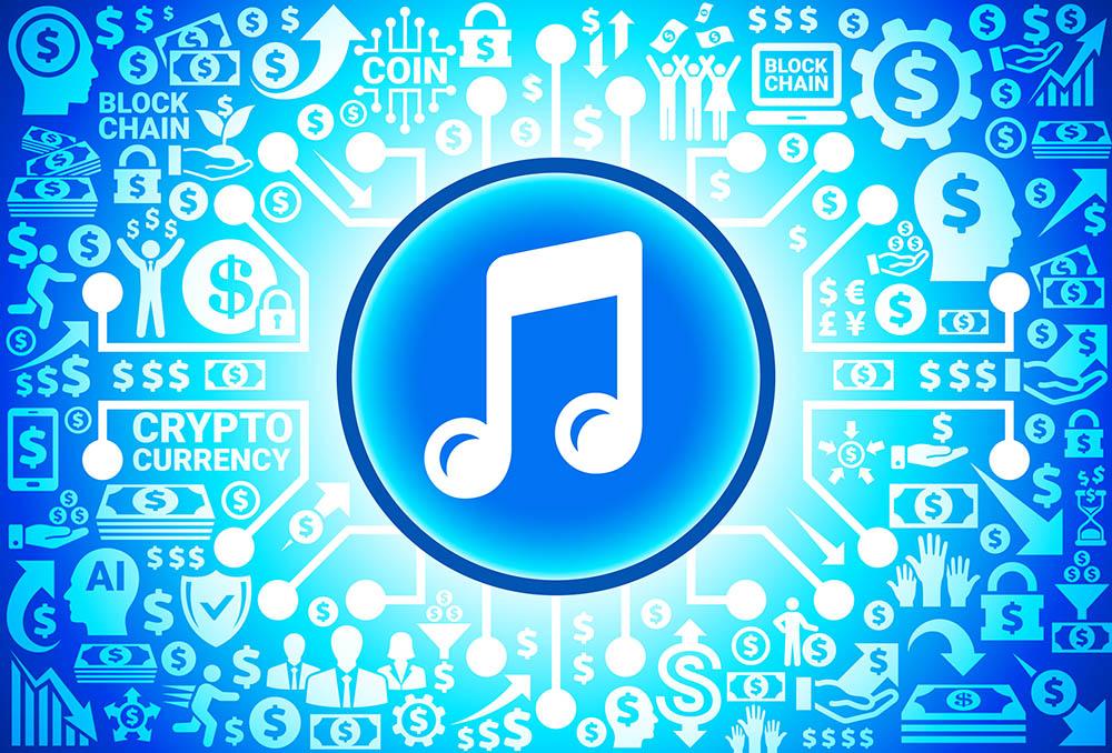 blockchain muziek