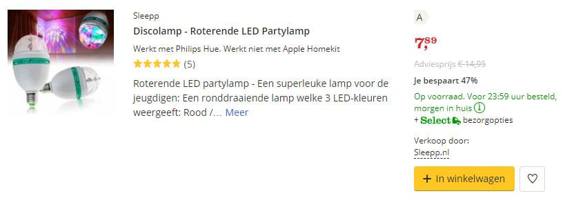 discolamp werkt met Philips Hue