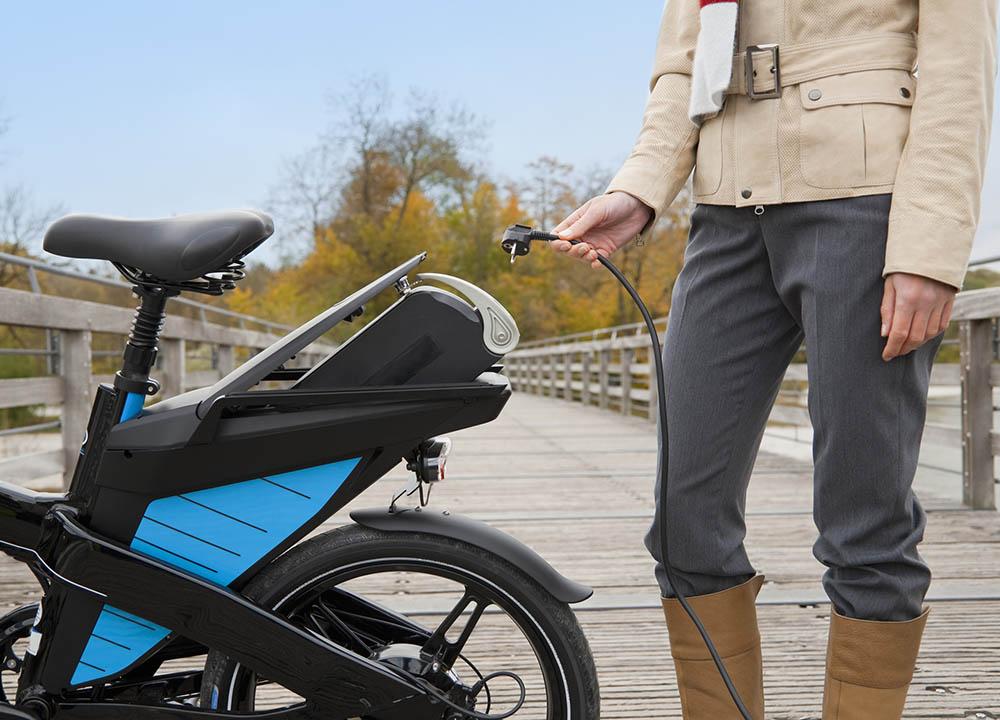 e-bike opladen