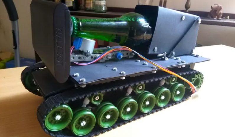Tank robot bier