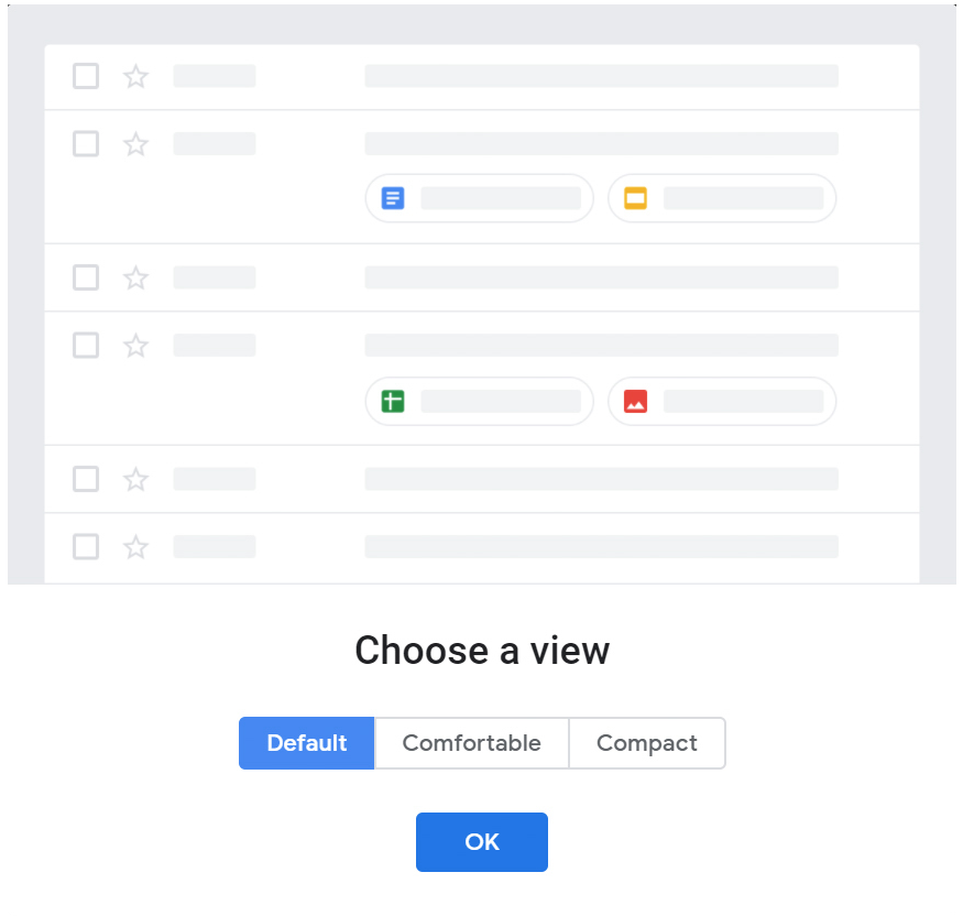 Gmail redesign