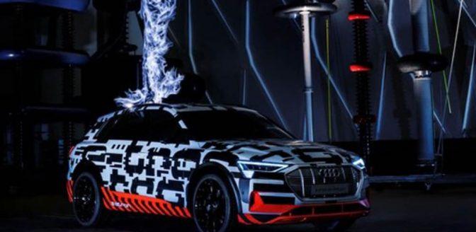 Audi e-tron batterij kooi van Faraday