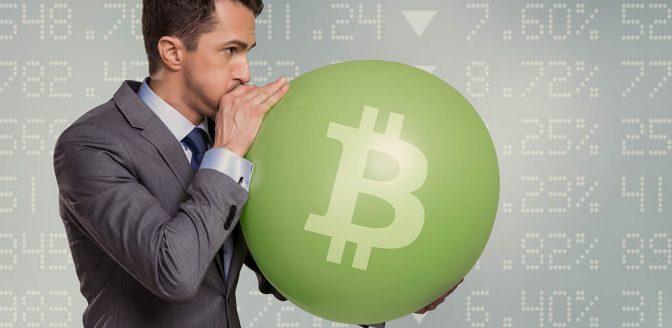 Bitcoin zeepbel ballon