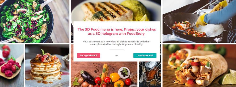 Foodstory 3d AR menu