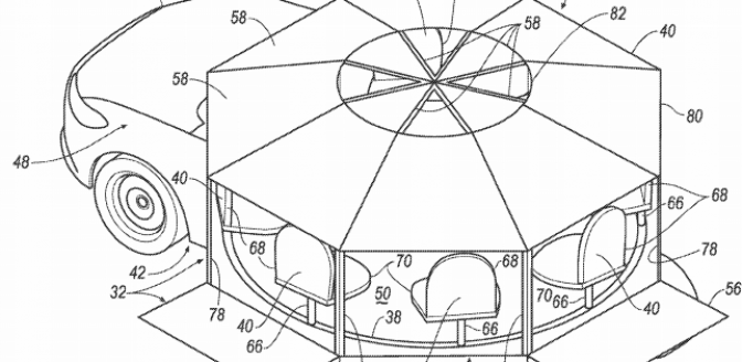 Ford patent zelfrijdende auto