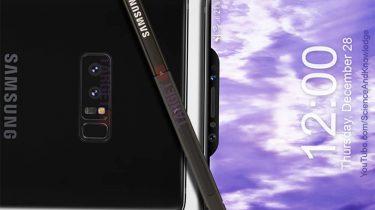 Galaxy Note 9 render notch