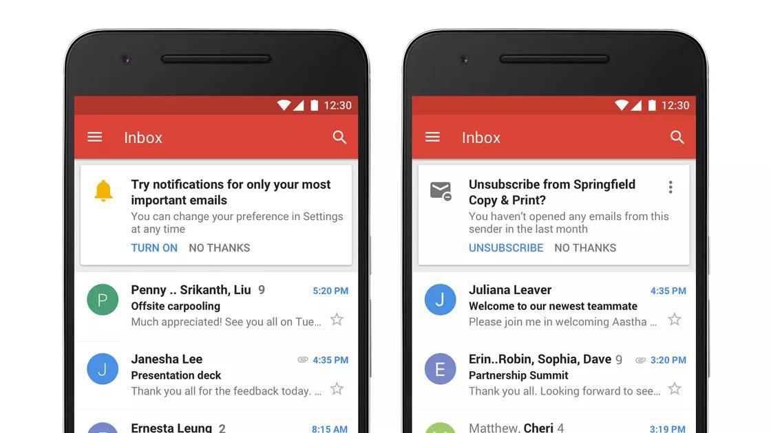 Gmail notificaties