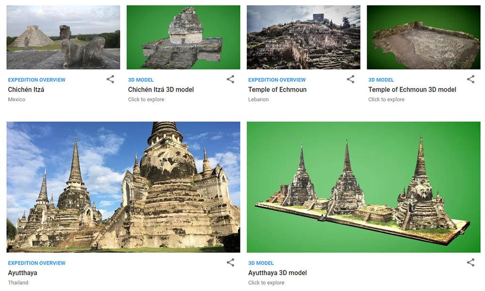 Google Arts & Culture historische plekken