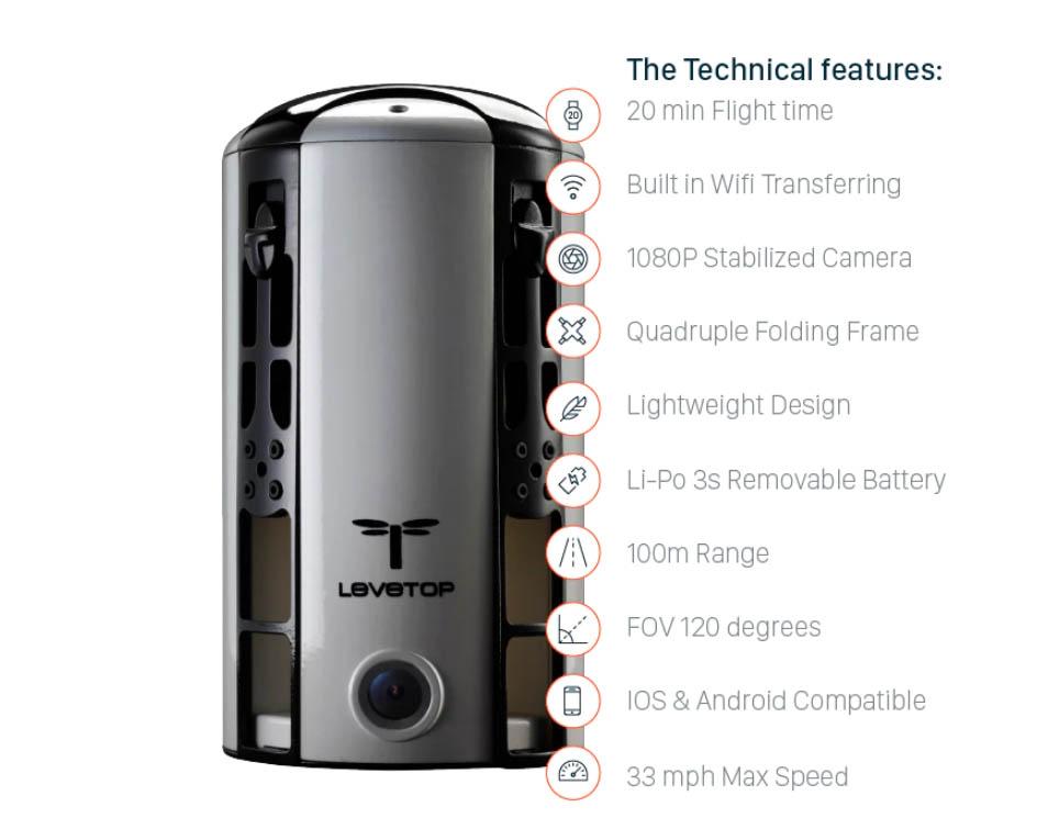LeveTop drone specificaties