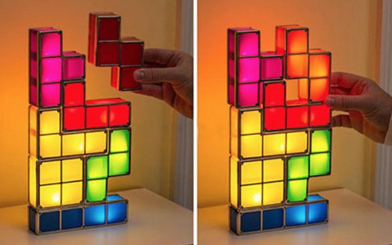 Tetris bureaulamp