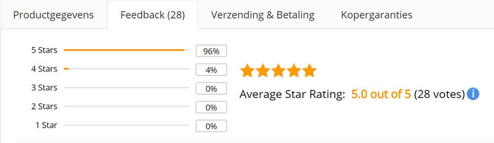 AliExpress feedback