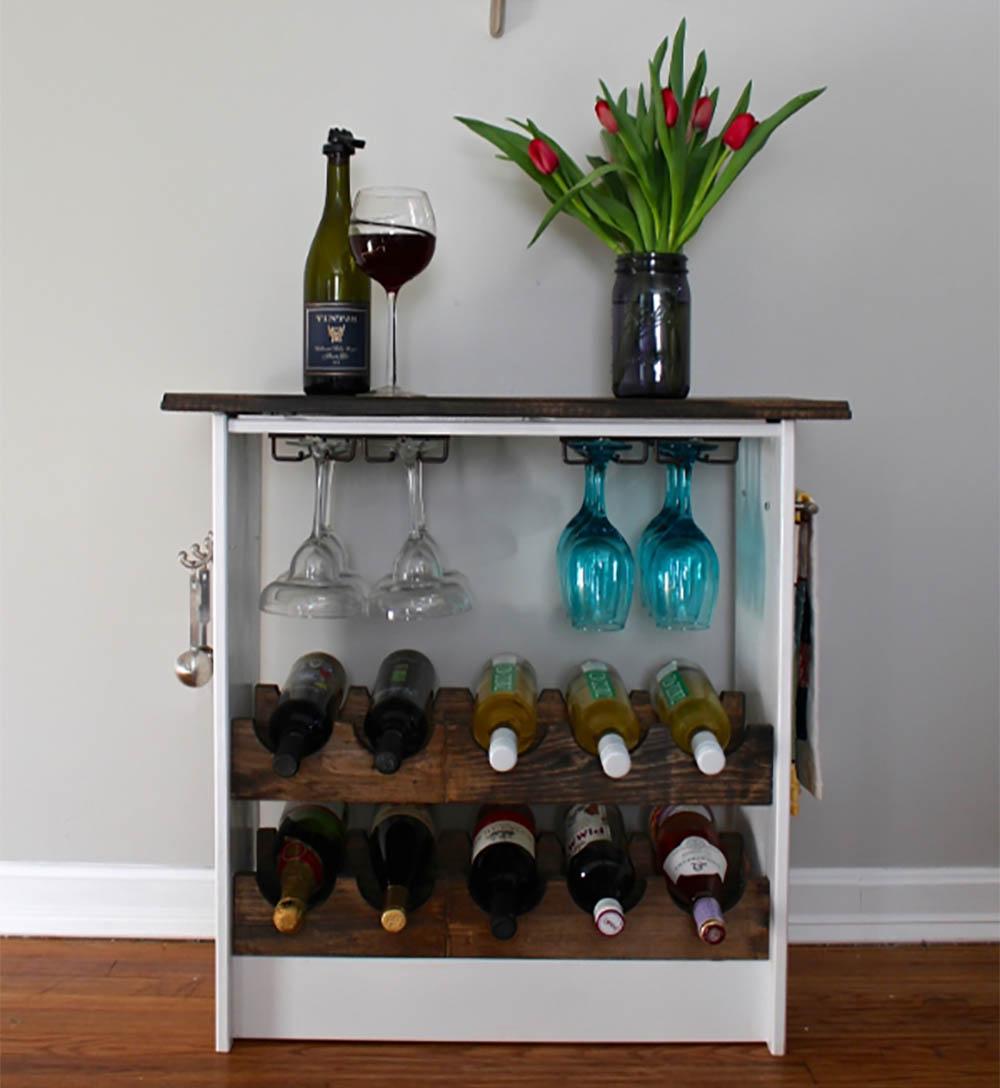 Ikea hack wijnrek