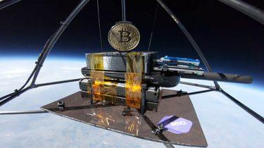 Miner One Bitcoin in de ruimte