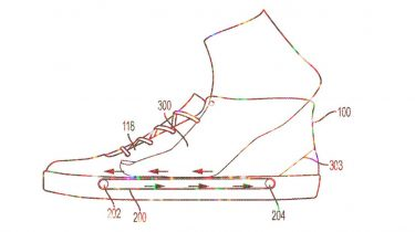 Nike sneakers patent