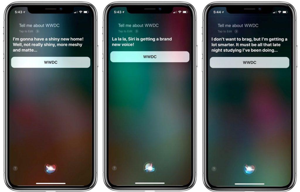 Apple Siri WWDC 2018
