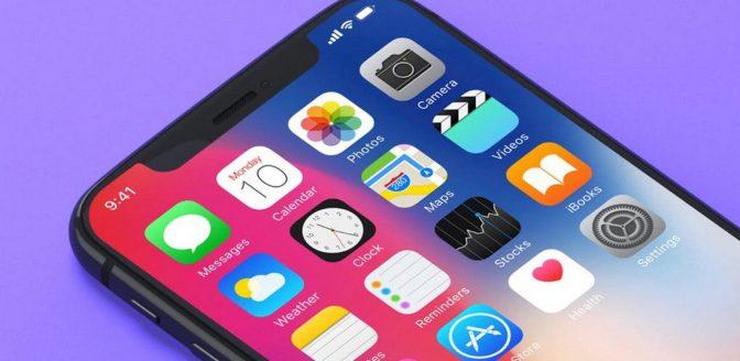 iPhone X rivier onder water